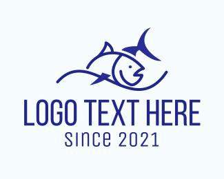 Sea - Tuna Sea Fish logo design