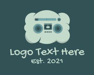 Fm Radio - Cloud Radio Cassette Tape  logo design