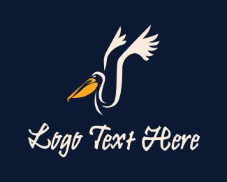 Animal - Pelican Bird Painting logo design