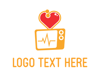 Cardiology - Heart Screen logo design