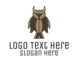 Natural Reserve - Brown Feather Owl logo design