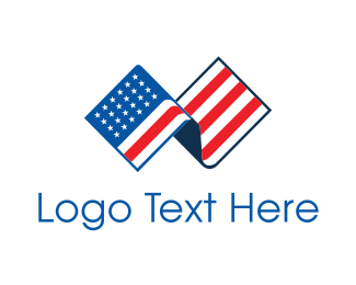 Cross Country - USA American Flag logo design
