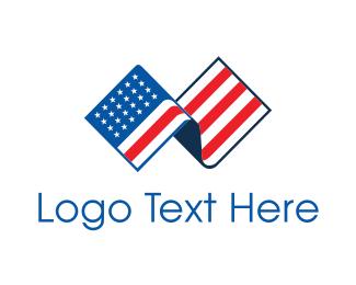 American - American Flag logo design