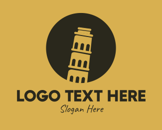 Tourist Attraction - Leaning Tower of Pisa logo design