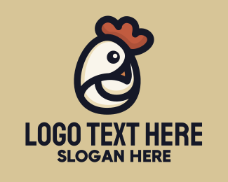 Egg Decoration - Chicken Head Egg  logo design