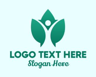 Yoga - Leaf Wellness Yoga logo design
