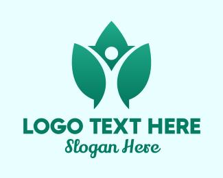 Therapeutic - Leaf Wellness Yoga logo design