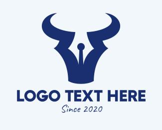 Antenna - Bull Horns Antenna logo design