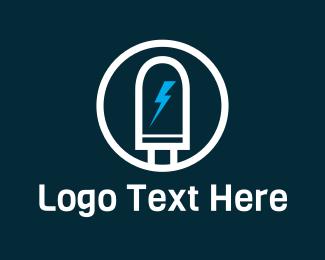 Charger - Led Light logo design