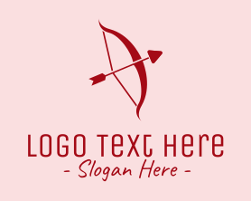 Holiday - Red Cupid Arrow logo design
