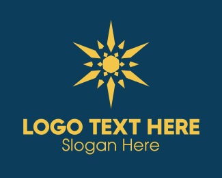 Point - Yellow Jewel Star logo design