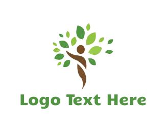 Botanical - Human Tree logo design