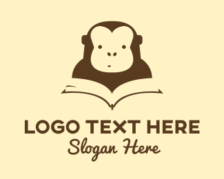 Reading - Monkey Book logo design
