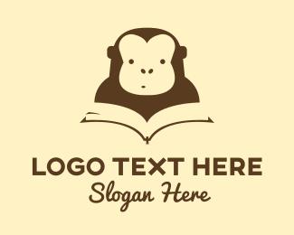 Study - Monkey Book logo design
