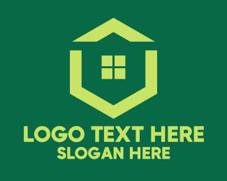 Rental - Green Real Estate Housing logo design