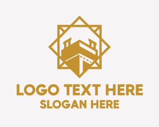 Structure - Golden Tower Structure logo design