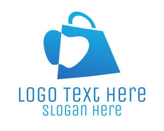 Online Shop - Apple Bag logo design