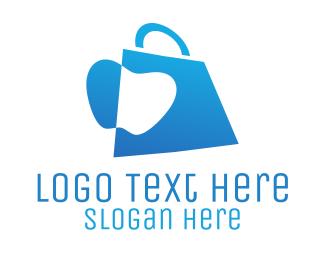 Food Store - Apple Bag logo design
