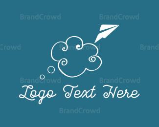 Flyer - Cloud & Plane logo design