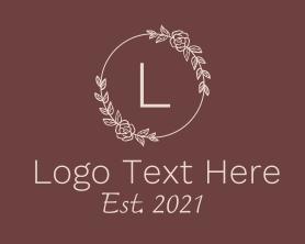 Brand - Rose Wreath Letter logo design