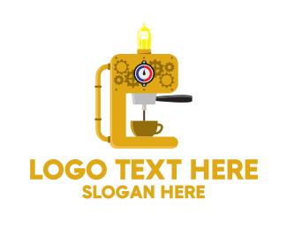 Machinery - Yellow Coffee Maker logo design