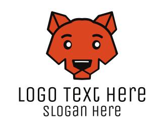 Coyote - Cute Coyote logo design