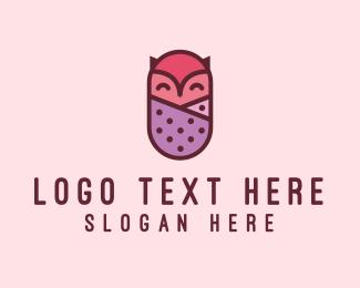 Baby - Baby Owl logo design