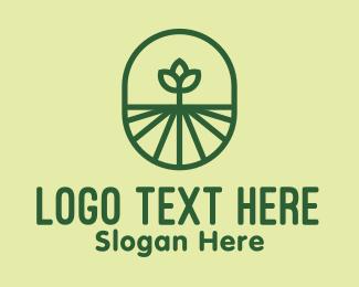 Bin - Green Monoline Plant logo design