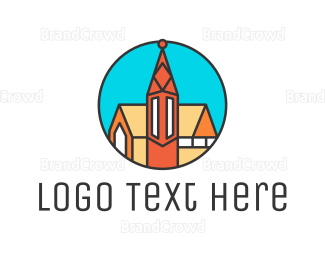 Cathedral - Polygon Cathedral logo design