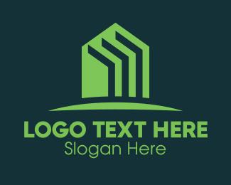 Housing Loan - Green Home Realtor logo design