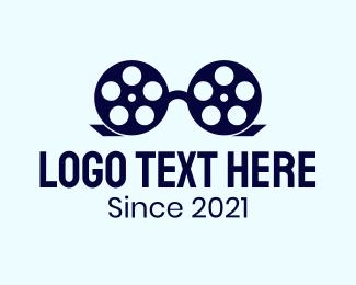 Film - Glasses Film Reel logo design