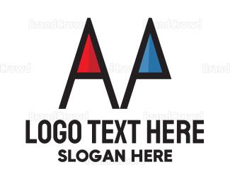 Color Pencil - Red & Blue Pencil logo design