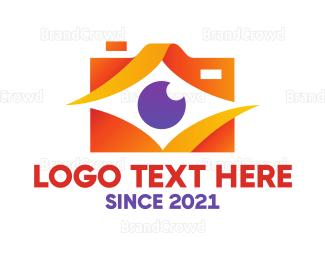 Electronics Boutique - Diamond Abstract Camera logo design