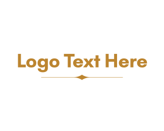 """Minimalistic Golden Wordmark"" by BrandCrowd"
