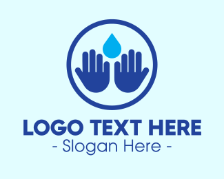 Water Drop - Hand Wash Sanitizer logo design