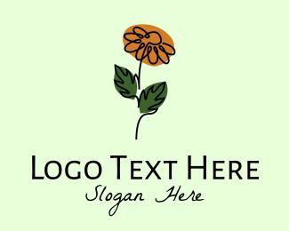 Flower Boutique - Daisy Flower Monoline  logo design