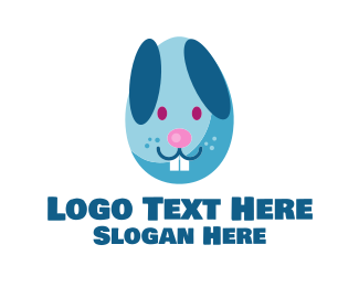 Party Game - Easter Egg Bunny  logo design