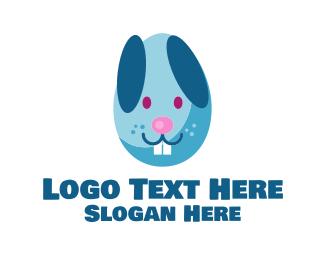 Road Sign - Easter Egg Bunny  logo design