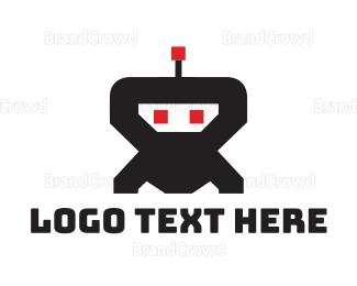 Droid - Ninja Robot logo design
