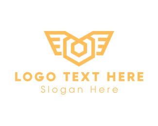 Luxurious - Luxurious Hexagon Wings logo design
