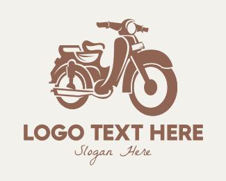 """""""Brown Vintage Motorcycle"""" by AMCstudio"""