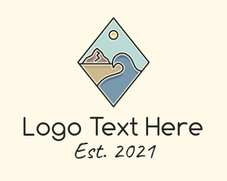 Seaside - Seaside Summer Vacation logo design