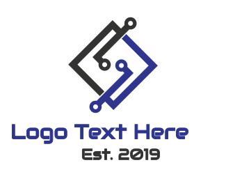 Hacking - Tech Letter S logo design