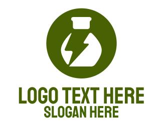 Lightning - Chemical Lightning logo design