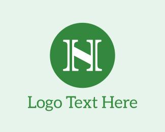 Green Circle - Letter N Circle logo design
