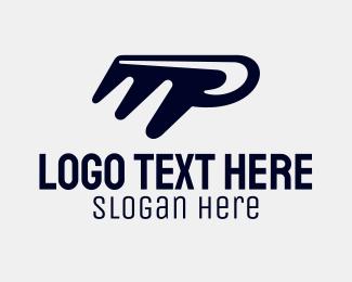 Curved - Barber Comb Letter M logo design
