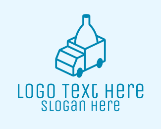 Delivery Service - Bottle Delivery logo design