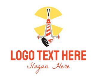 Stick - Hockey Lighthouse Puck logo design