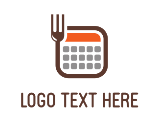 Weight Loss - Fork Calculator logo design