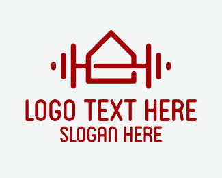 Physical Fitness - Home Gym Fitness Equipment logo design